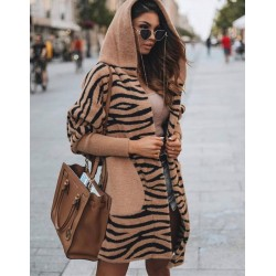 Cardigan brown zebra