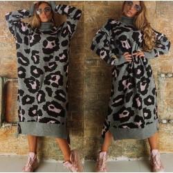 Rochie pulover animal print...