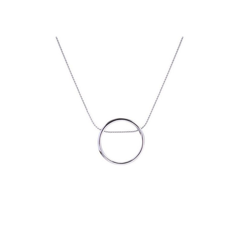 Colier new fashion round pendant silver