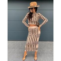 Compleu fashion Fancy bej