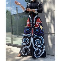 Rochie camasa geometric black