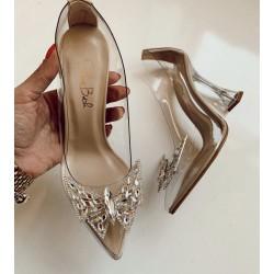 Pantofi Transparent Butterfly