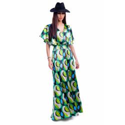 Rochie satinata green
