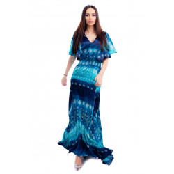 Rochie satinata blue
