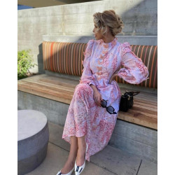 Rochie roz cu fluturasi