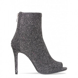 India Glitter Strech Peep Toe