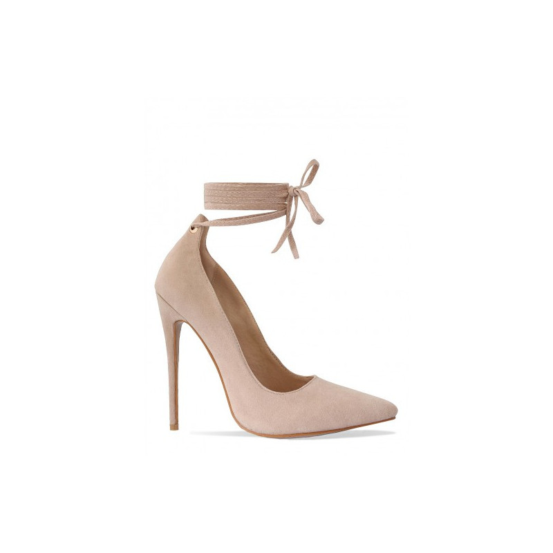 Sayara Nude Lace Up stiletto