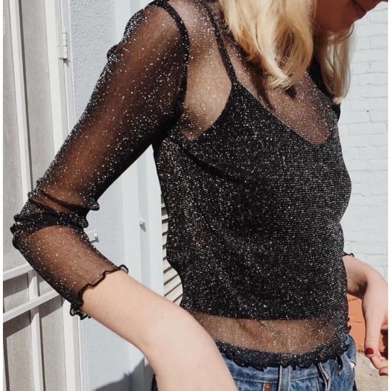 Bluza transparenta star