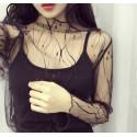 Bluza transparenta glitter