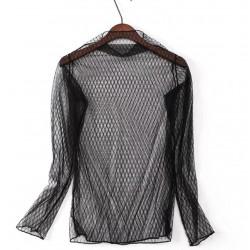 Bluza transparenta cu buline