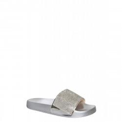Papuci silver diamonte
