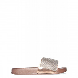 Papuci rose gold sparkle
