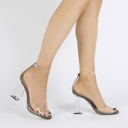 Sandale transparent & glitter