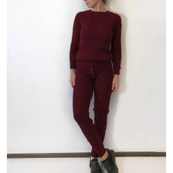 Trening Knitted Burgundy