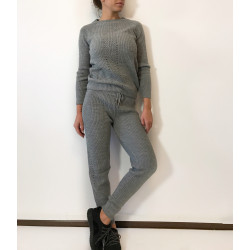 Trening Knitted Gri
