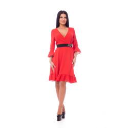 Rochie din voal roșie