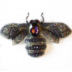 Brosa statement dark blue bee