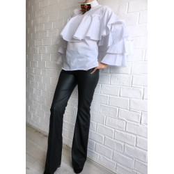 Pantaloni Atelier FeteRL PU evazati