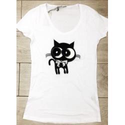 Tricou pisica aplicata