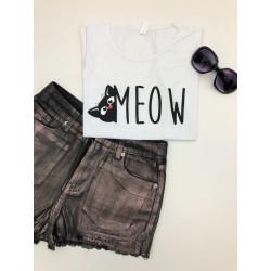 Tricou negru meow
