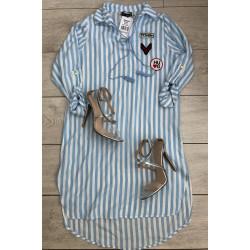Rochie camasa cu dungi bleu