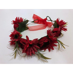Bentita cu flori rosii