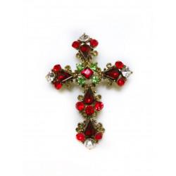 Brosa cruce rosie