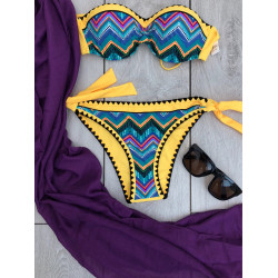 Costum de baie boho yellow