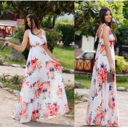 Rochie cu flori, lunga