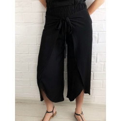 Pantaloni wrap black