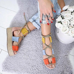Sandale mov bareta cu pietre