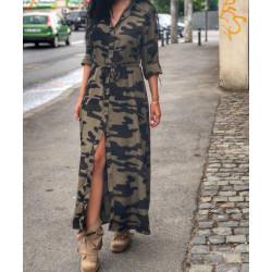 Rochie maxi army