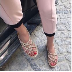 Sandale negre din sfoara