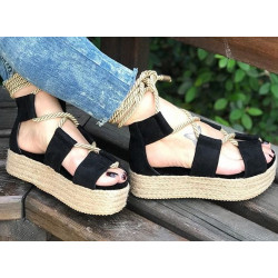 Sandale platforme colorate