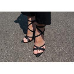 Sandale negre stilleto