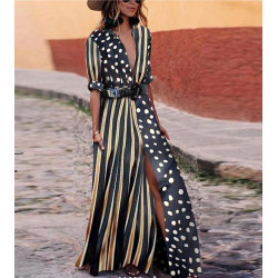 Rochie dots and stripes