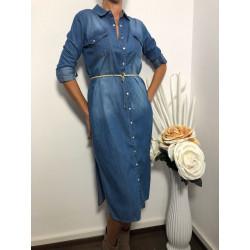 Rochie camasa de blugi lunga