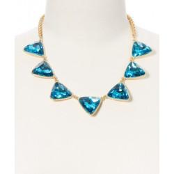 Colier cu cristale albastre si cercei