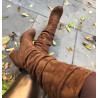 Cizme brown suede