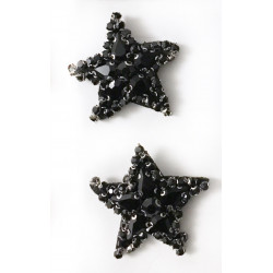 Black star shoe clips
