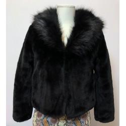 Haina blana artificiala classic fur
