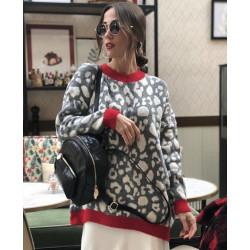 Rochie pulover pulover cu motive