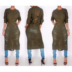 Ripped sweter dress