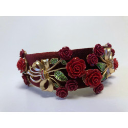 Red Flowers Luxury Head Band