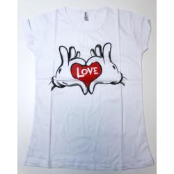 Tricou LOVE alb