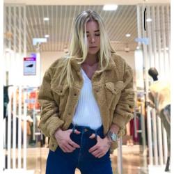 Jacheta din blanita maron