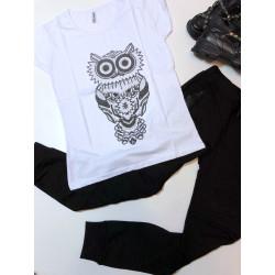 Tricou white owl