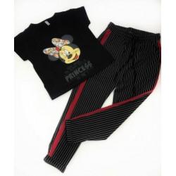 Set tricou negru Minnie cu pantalon