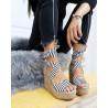 Sandale black stripes