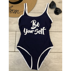Costum de baie be yourself bleumarin